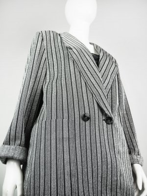 Boyfriend Blazer black-silver-colored mixture fibre
