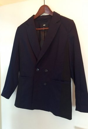 Zweireihiges Oversize-Jacket in dunkelblau