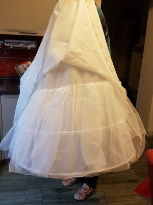 Hoop Skirt white-nude