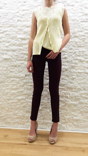 Knitted Twin Set pale yellow-primrose mixture fibre
