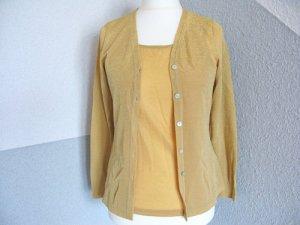Zweiteiler, Blusen, Hemden, Gold, Glitzer, Größe 36/38, edel