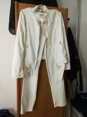 Stefanel Linen Pants white linen