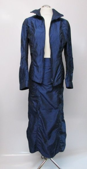 Madeleine Ladies' Suit dark blue-blue polyester