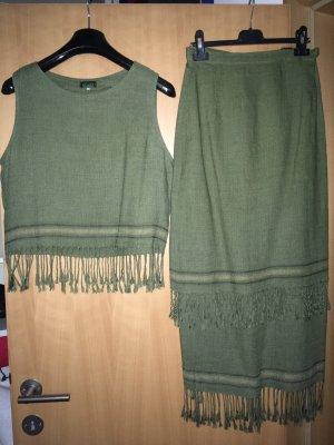 Robe à franges kaki