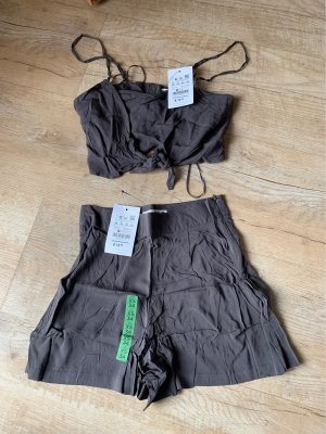 Pull & Bear Twin set in jersey multicolore