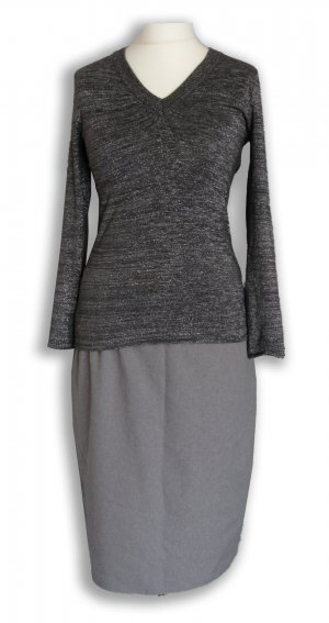 Longsleeve Dress silver-colored