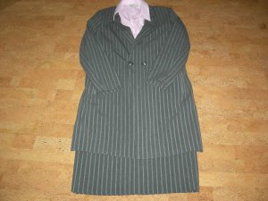 Alba Moda Woolen Dress dark grey polyester