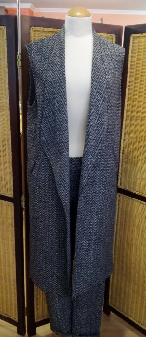 Rich & Royal Tailleur-pantalon gris anthracite-blanc tissu mixte