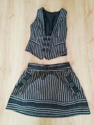 Zara Twin Set tipo suéter black-silver-colored