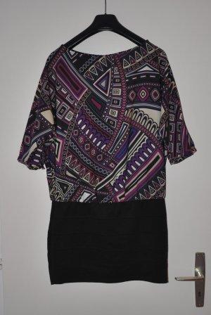Zweiteiliges buntes Kleid