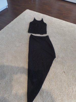 Zweiteiliges Cockteilkleid mit freiem Rücken und schrägem Rock