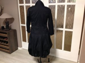 100% Fashion Robe de cocktail noir coton