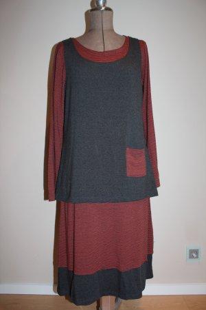 zweiteiliges Kleid Yola / Maxikleid von Deerberg - neu - Naturfaser