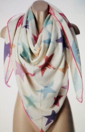 Zwillingsherz Bufanda de cachemir multicolor