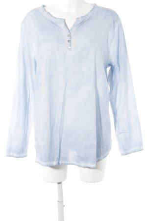 Zwillingsherz Langarm-Bluse kornblumenblau Casual-Look
