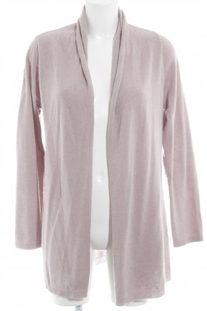 Zwillingsherz Strick Cardigan altrosa-weiß Sternenmuster Casual-Look