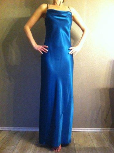 langes abendkleid royal blau t rkis wie neu gr e 36 m dchenflohmarkt. Black Bedroom Furniture Sets. Home Design Ideas