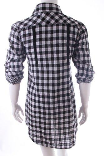 lucy hemd bluse schwarz wei kariert m dchenflohmarkt. Black Bedroom Furniture Sets. Home Design Ideas