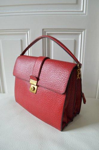 prada damen tasche handtasche henkeltasche leder rot lila. Black Bedroom Furniture Sets. Home Design Ideas