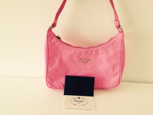 prada handtasche original neu rosa pink tasche bag clutch. Black Bedroom Furniture Sets. Home Design Ideas