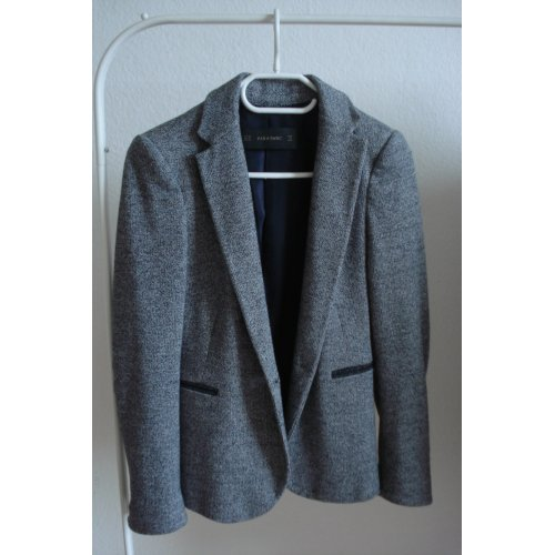 damen blazer gr xs von zara in grau m dchenflohmarkt. Black Bedroom Furniture Sets. Home Design Ideas