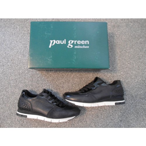 paul green turnschuhe sneaker nieten schwarz weiss neu. Black Bedroom Furniture Sets. Home Design Ideas