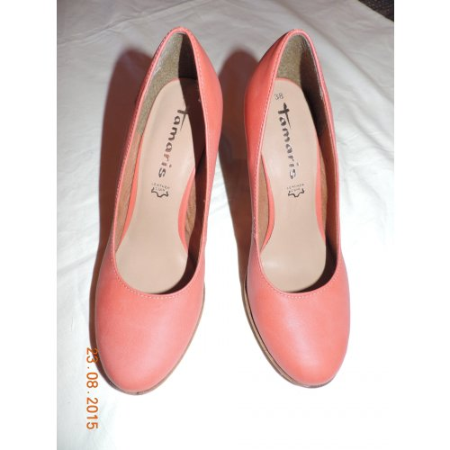 tamaris pumps damenschuh koralle pink rosa hellrot braun. Black Bedroom Furniture Sets. Home Design Ideas