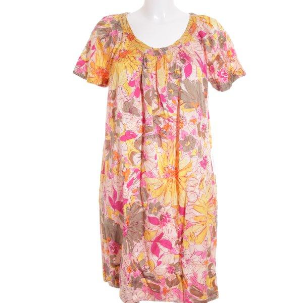 0039 Italy A-Linien Kleid florales Muster Elegant