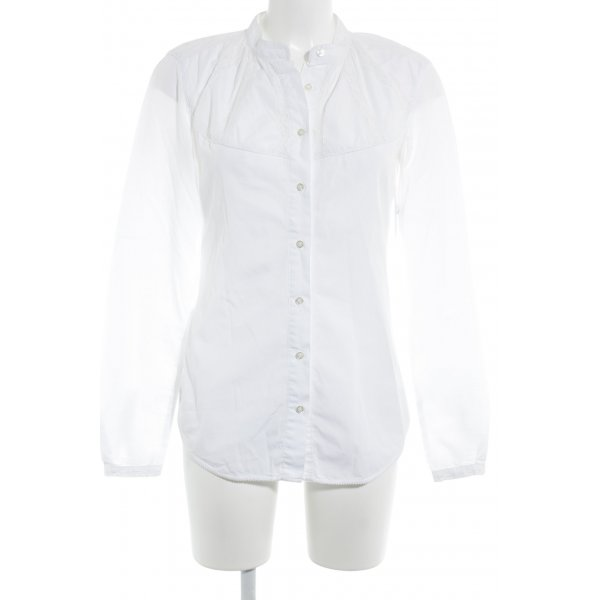 0039 Italy Langarm-Bluse weiß Casual-Look