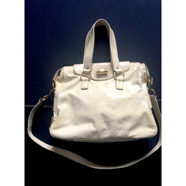 1.590€ Orig. YSL Yves Saint Laurent Rive Gauche Bag Messenger Muse creme Leder Handtasche cross body