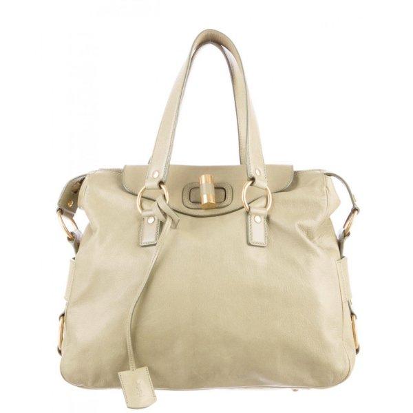 1.590€ Orig. YSL Yves Saint Laurent Rive Gauche Messenger Bag Muse creme Leder Handtasche cross body