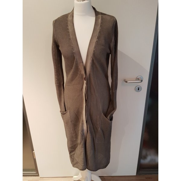 10 Days Giacca in maglia marrone-grigio