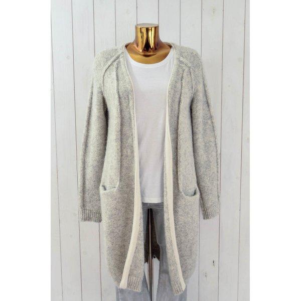 10 Days Cappotto a maglia grigio chiaro-bianco sporco Lana d'alpaca