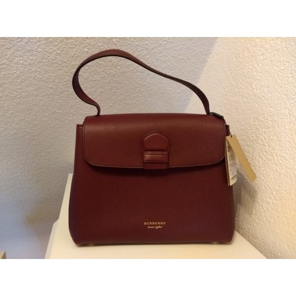 Burberry Shoulder Bag bordeaux leather