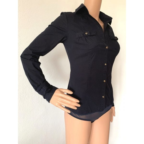 119€ Hemd Hemdbody Body Shirt Slim Fit S 34 36 elegante Bluse Baumwolle Business