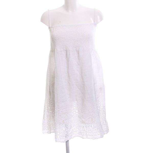 120% Lino Strandkleid weiß Casual-Look