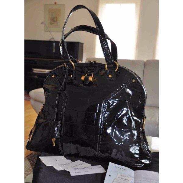 1690€ Orig. YSL Yves Saint Laurent MUSE XL Bag Handtasche Leder tasche Kroko Shopper