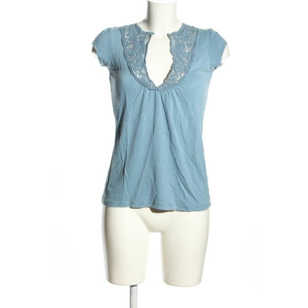 21 T-Shirt blau Casual-Look