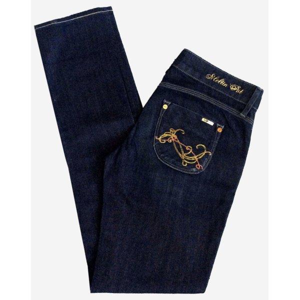28 32 MELTIN POT Mavis Hose Jeans Hüftjeans Hüfthose dunkelblau UNGETRAGEN