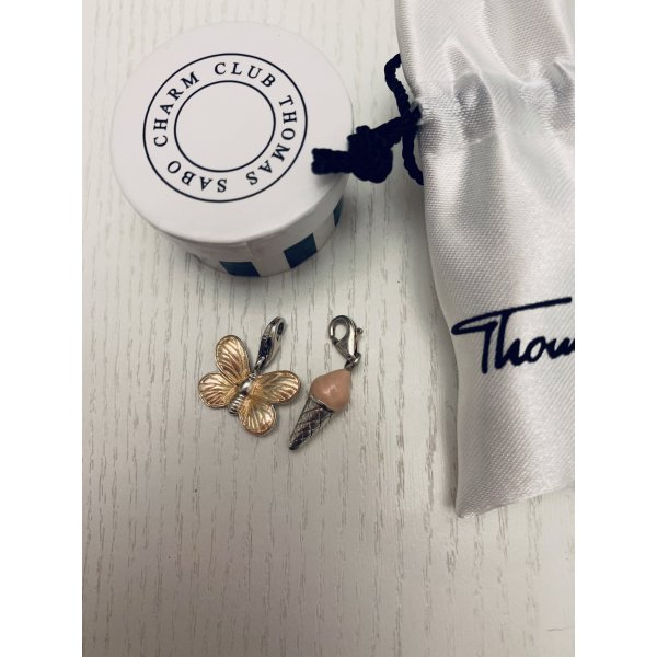 2x Thomas Sabo Charms Rose