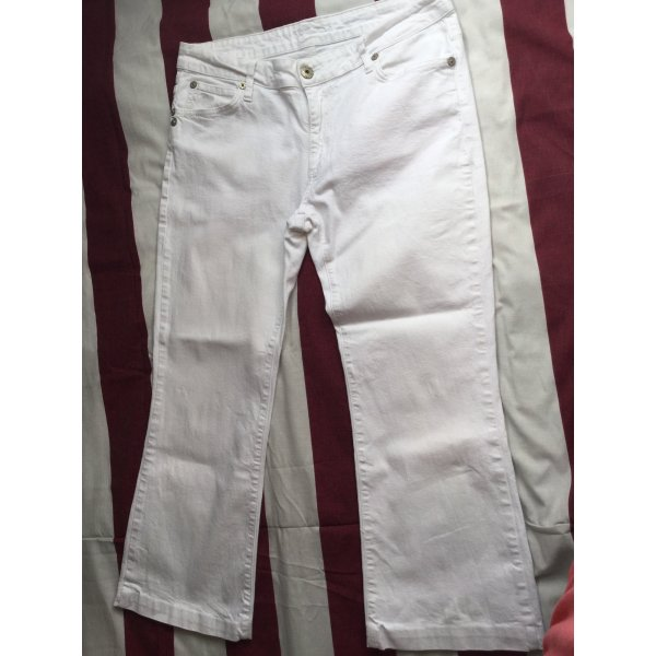 3/4 Jeans weiss