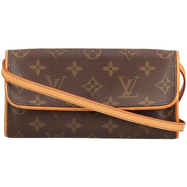 35520 Louis Vuitton Pochette Twin PM Monogram Canvas Tasche, Clutch, Handtasche