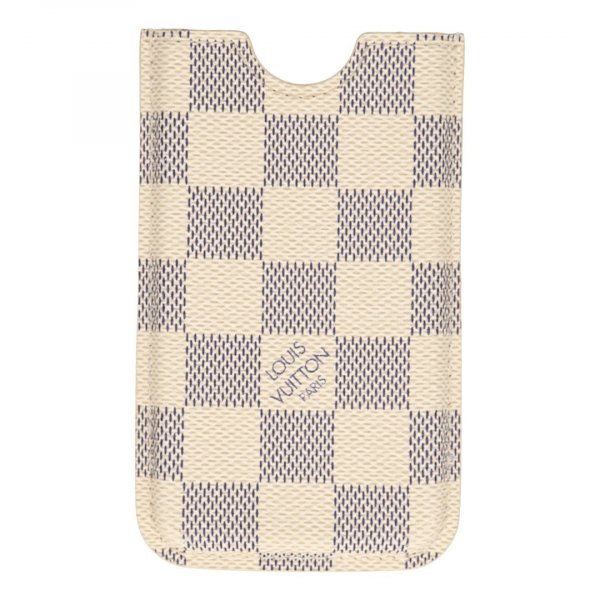 35875 Louis Vuitton iPhone 4 Etui aus Damier Azur Canvas