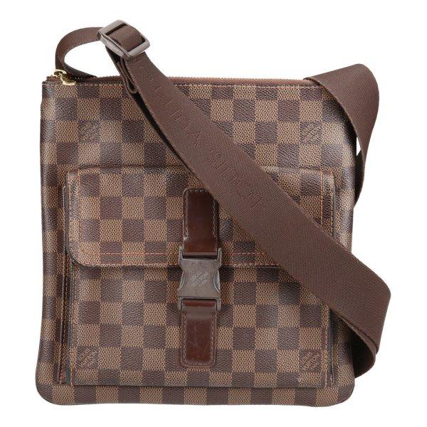 35929 Louis Vuitton Pochette Melville Damier Ebene Canvas Tasche, Handtasche, Umhängetasche