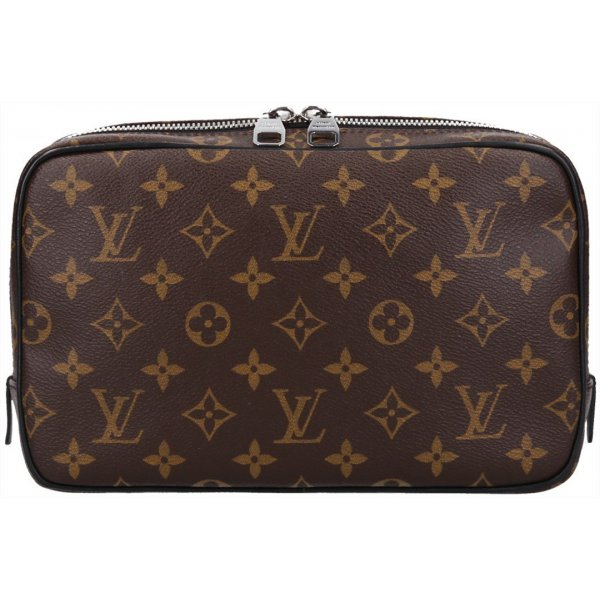 36055 Louis Vuitton Trousse Toilette GM Monogram Macassar Canvas Kulturtasche, Clutch