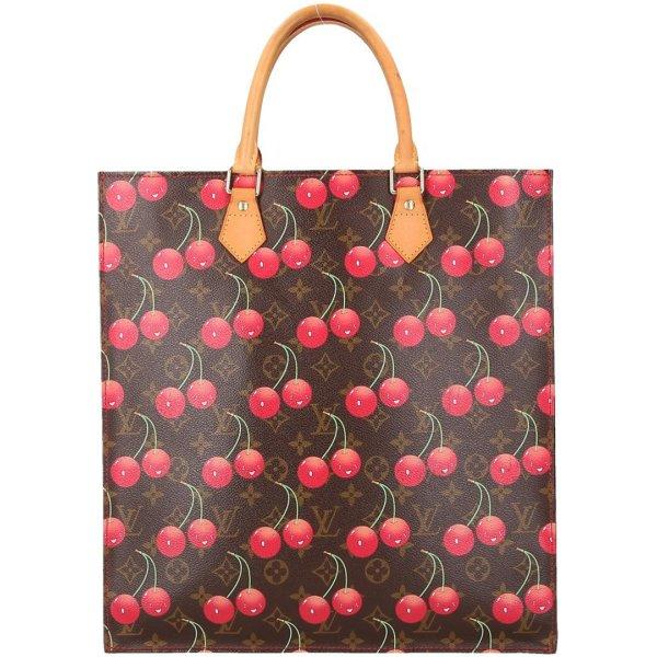 36568 Louis Vuitton Sac Plat Henkeltasche, Handtasche aus Monogram Cerises Canvas