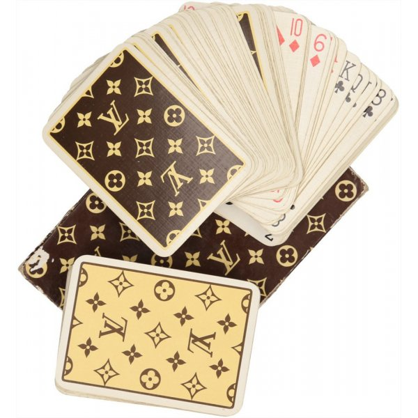 36745 Louis Vuitton Cartes à Jouer Étui Carton 2 Kartendecks mit Monogram bedruckt