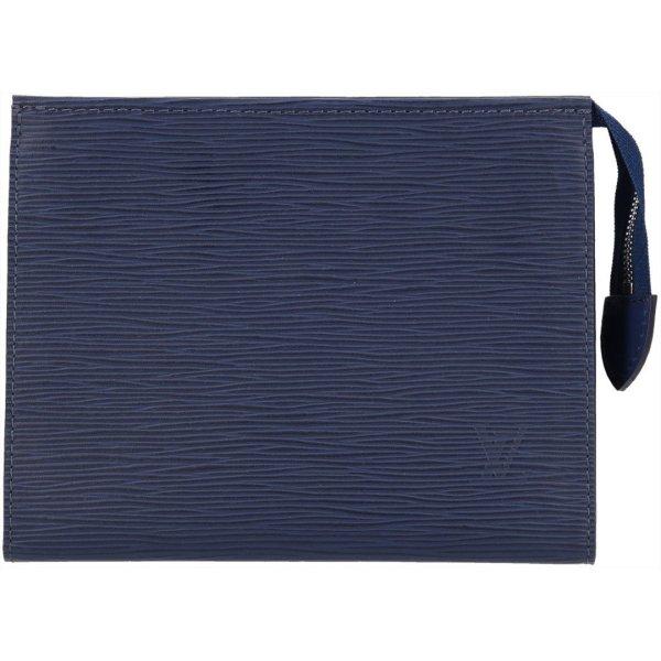 36904 Louis Vuitton Poche Toilette 19 Epi Leder in Indigo Clutch, Kosmetiktasche