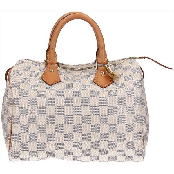 37969 Louis Vuitton Speedy 25 Damier Azur Canvas Tasche, Handtasche