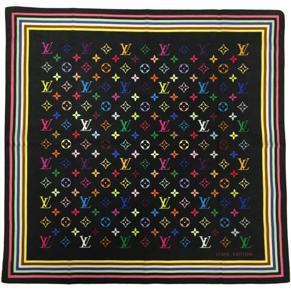 Louis Vuitton Foulard multicolore coton